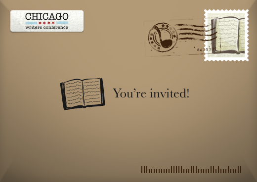 Chicago Writers Conference Fundraiser Invitation