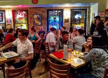the audience at Tuesday Funk on Oct. 1, 2019 - click to view - mousewheel to zoom