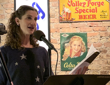 author Katey Schultz reads at Tuesday Funk  - click to view - mousewheel to zoom
